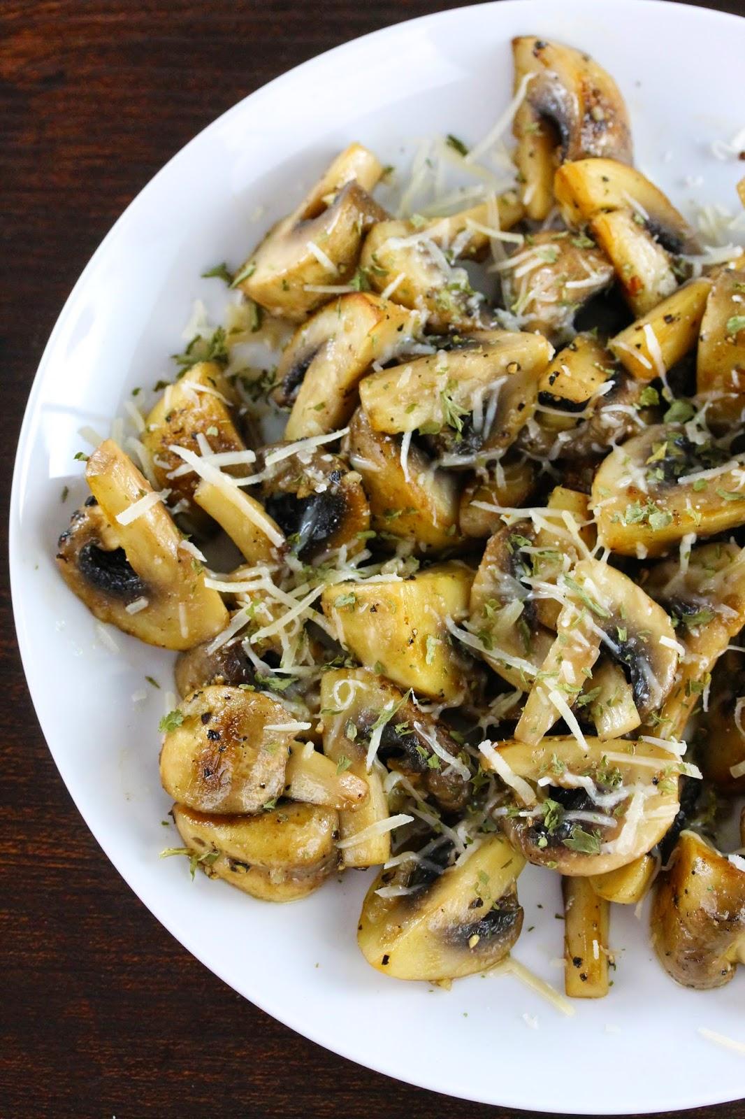 Sauteed Mushrooms with Garlic and Parmesan ...