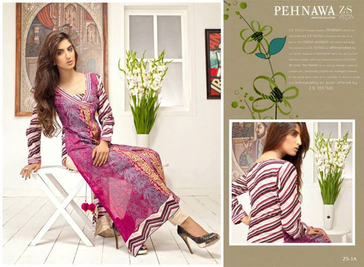 Pehnawa+Eid+Dress+Latest+Collection+by+ZS+Textiles Latest Pehnawa Eid Dresses by ZS Textiles
