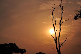 Sunset from Jayanti a.k.a Jainti river bed, Jainti, Buxa Tiger Reserve, Dooars