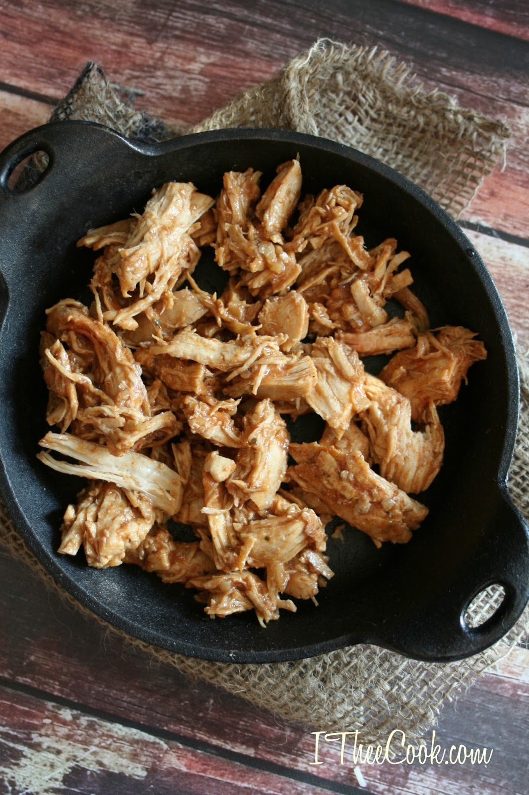 I Thee Cook All Purpose Slow Cooker Shredded Chicken