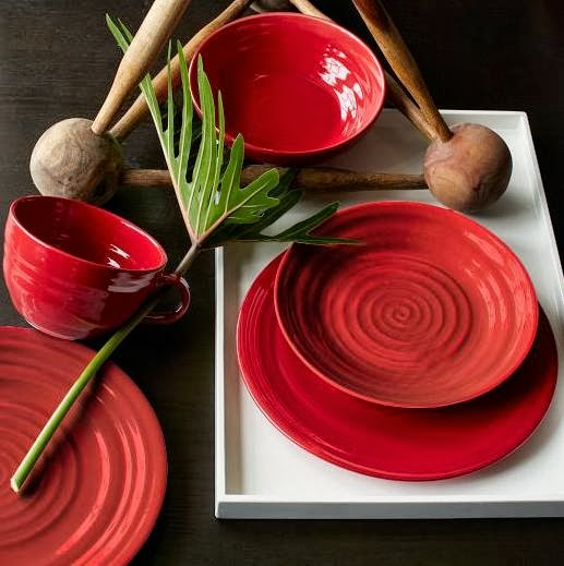 Crafted Red Dinnerware