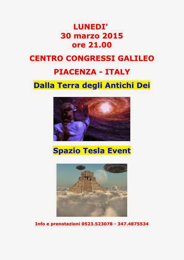 SPAZIO TESLA EVENT - 30 MARZO 2015 - ORE 21,00