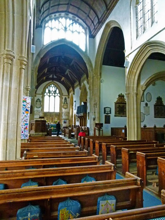 St Cyriac's, nave, Lacock, Wiltshire