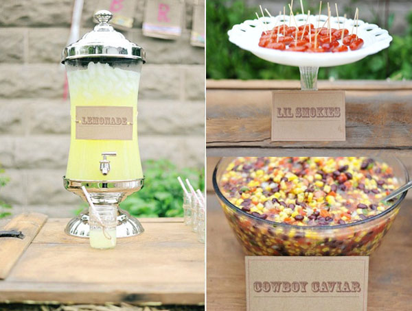 presentacion limonada y golosinas -fiesta cumpleaños country vintage