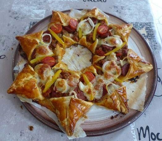 Recette du pizza étoile