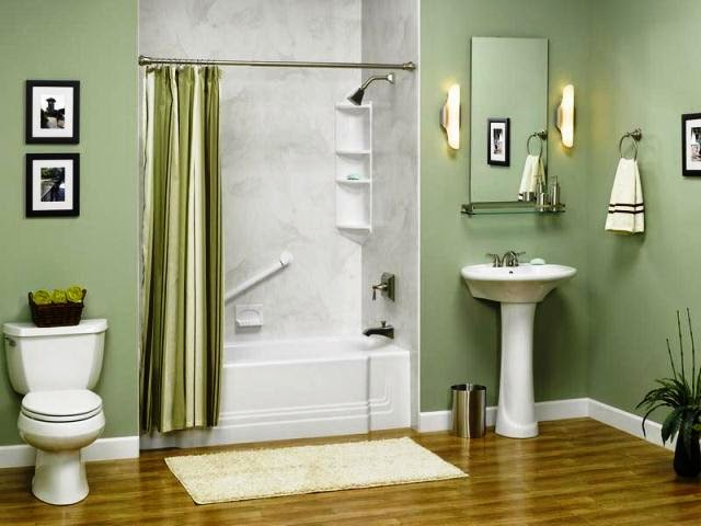 Wall Paint Colors For Bathroom: 2 color bathroom paint ideas