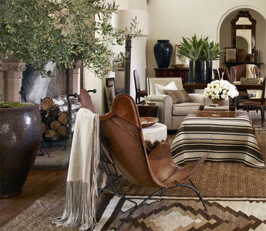 Style home blog ralph lauren lifestyle for Ralph lauren living room designs