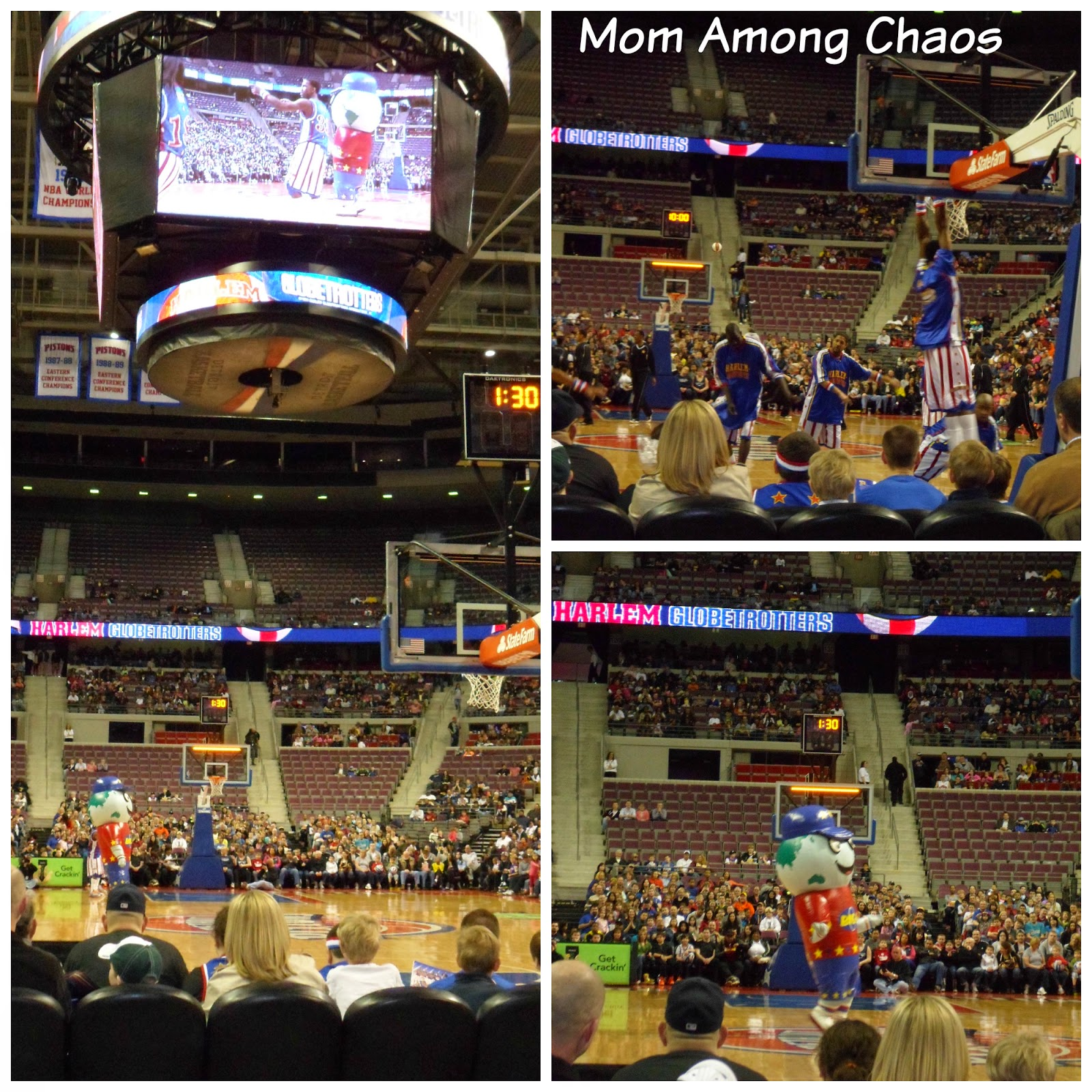 harlem globetrotters, baskeball, family, fun, event, entertainment, The Palace of Auburn Hills, Detroit, giveaway, photos,