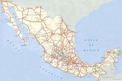 Mapa rodoviário do México