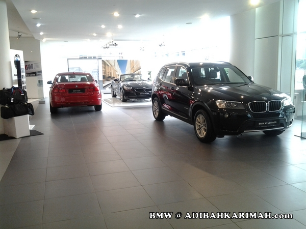 Adibah Karimah a premium beautiful retailer top GLG agent at BMW to test drive new F30