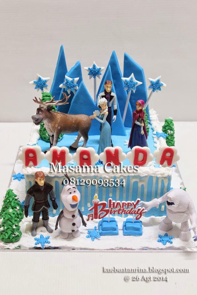 Masama Cakes Birthday Cake Frozen For Amanda