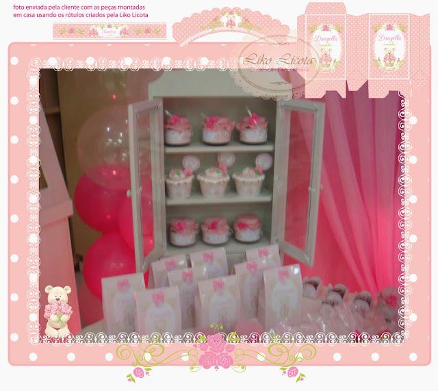 rotulo para vidrinho rosa e branco