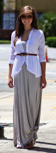 Moda - Maxissaia e maxivestido com nós - tendências verão 2015 vestido branco