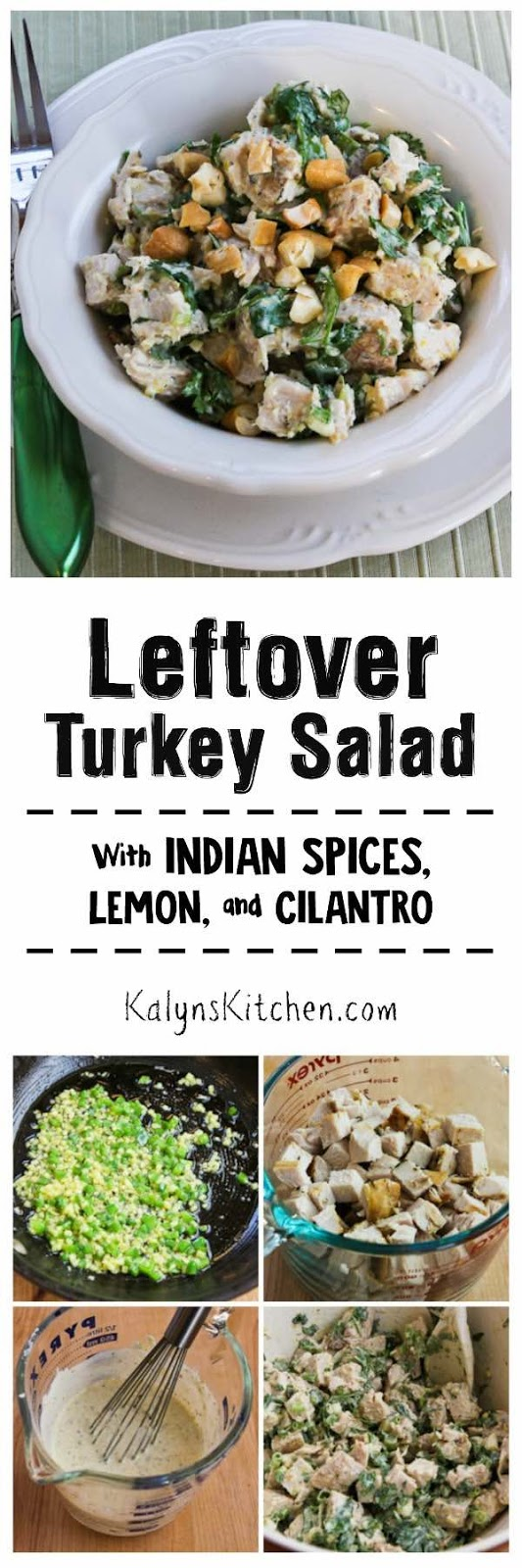 Kalyns Kitchen®Leftover Turkey (or chicken) Salad with Indian