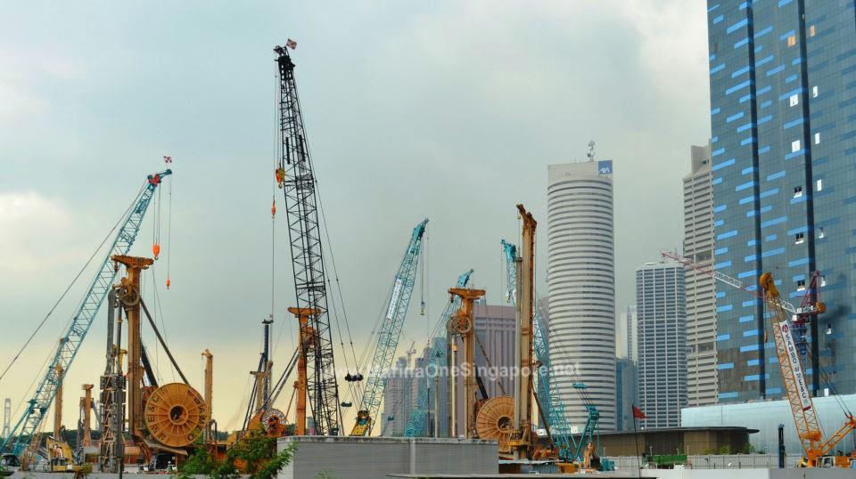 Marina One Singapore's Piling works
