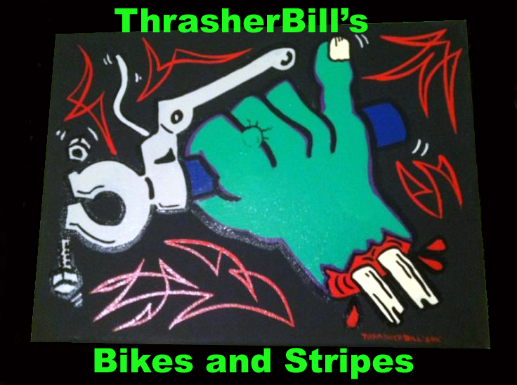 Thrasherbill's stripes and bikes
