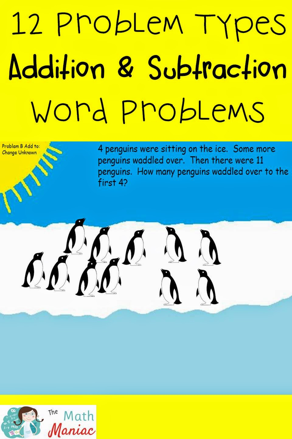The elementary math maniac penguin problem solving addition and