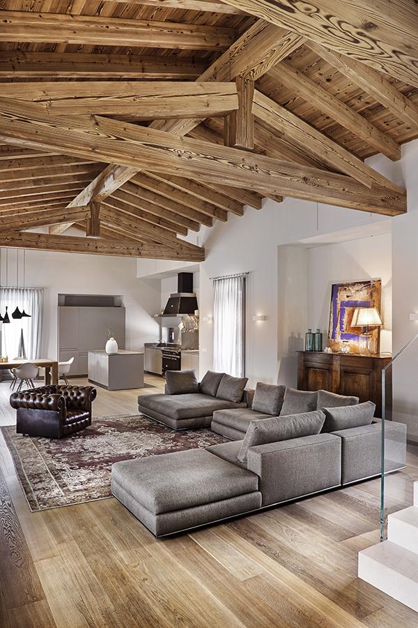 Soggiorno Moderno Rustico Con Amaca Interior Design : La poesia del legno