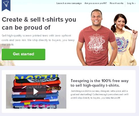 kiem tien ban ao thu tshirt - teespring - kiem tien online 2014