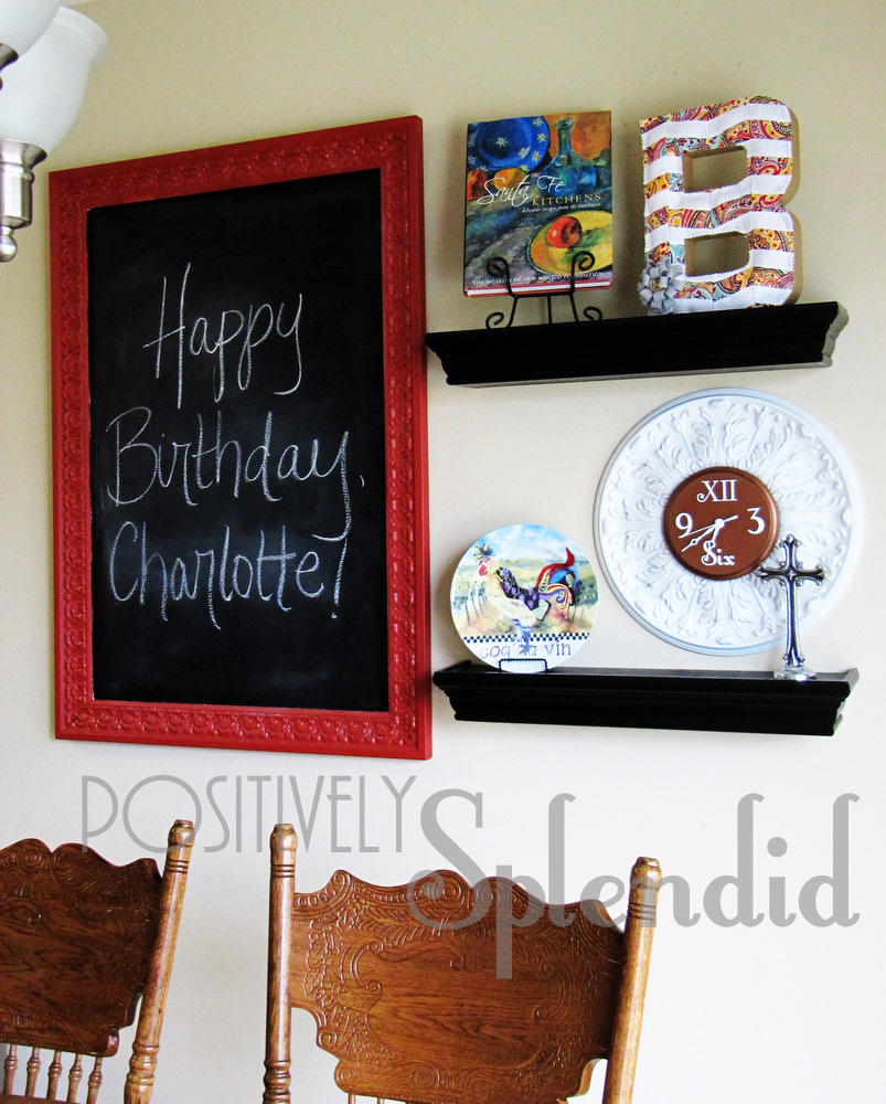 Kitchen Decor Updates New Shelving And Chalkboard