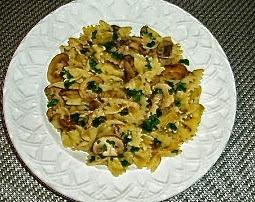 Bowtie Pasta with Mushroom-Marsala Sauce