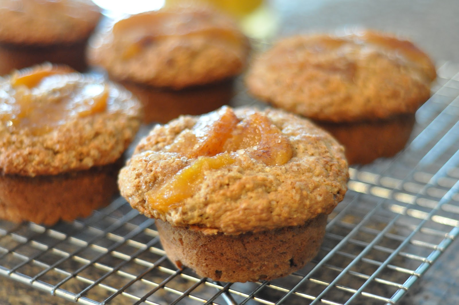 Peach Bran Muffins Recipe — Dishmaps