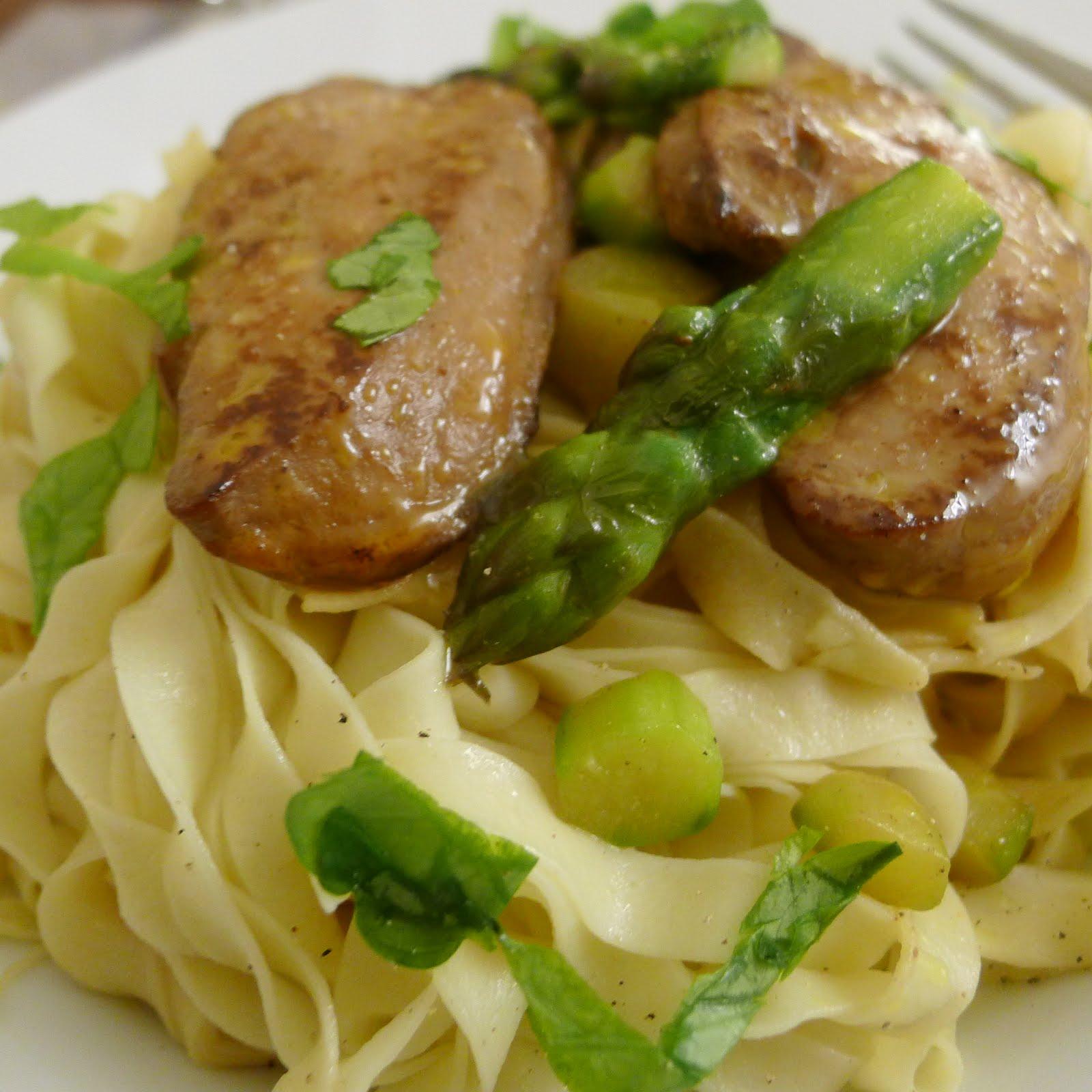 Th matique asperges toujours asperges vertes version luxe avec du foie gras des - Cuisiner les asperges vertes fraiches ...