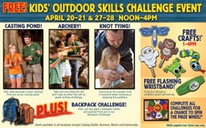 Kids' Outdoor Skills Challenge at Bass Pro Shops
