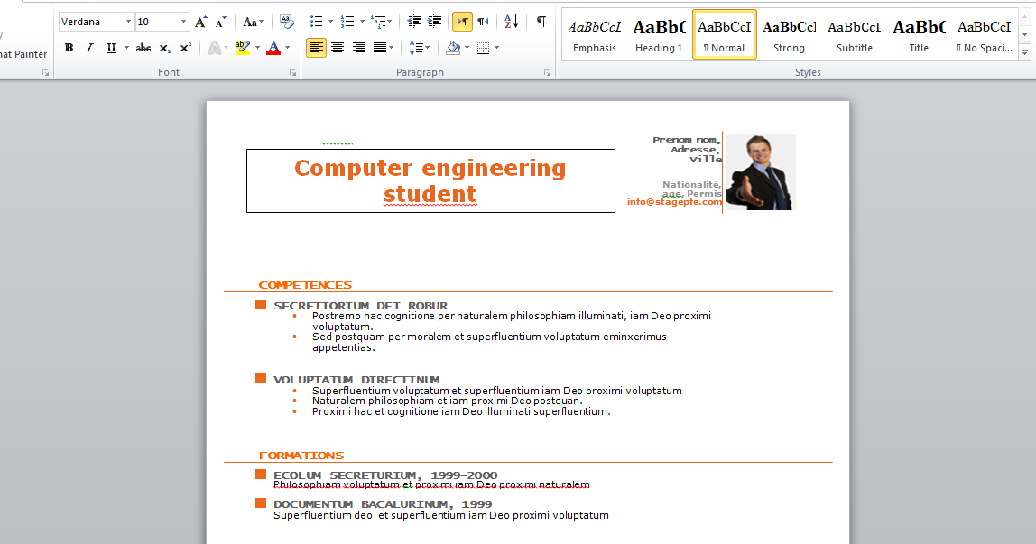 Stagepfe: Free Resume Template 2015 For College Student (Microsoft
