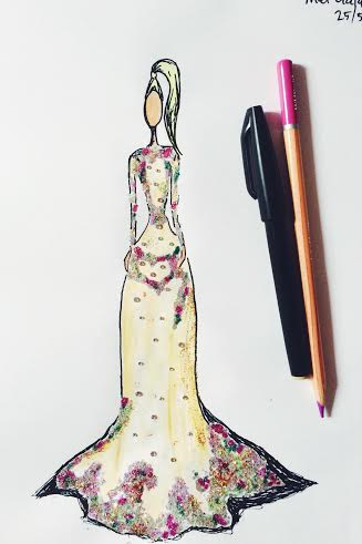 beyonce met ball fashion drawing