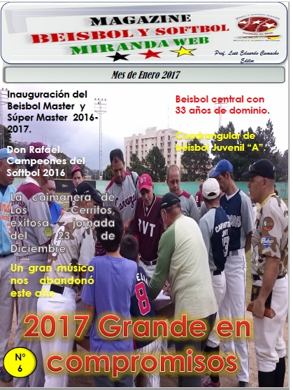 Magazine Beisbol y Softbol Miranda. Enero 2017