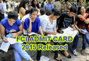 CI Hall Ticket 2015 Download at fcijobsportal.com, FCI Admit Card News, FCI JE Application Status or Admit Card 2015, FCI Category III Admit Card 2015, FCI JE, Typist Admit Card 2015, FCI Asst Grade III Call Letter 2015 Download