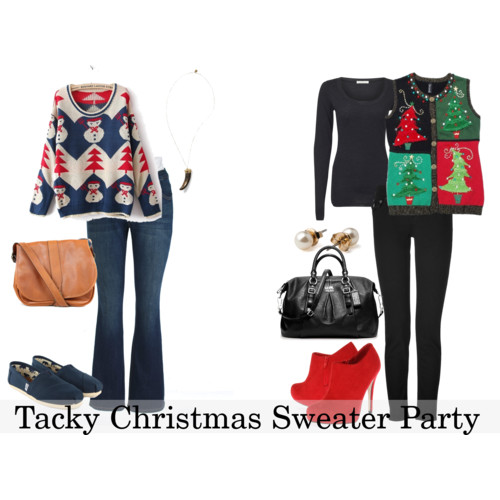 cute christmas sweater outfit style collages pinterest life as a pepin how to wear tacky christmas sweaters
