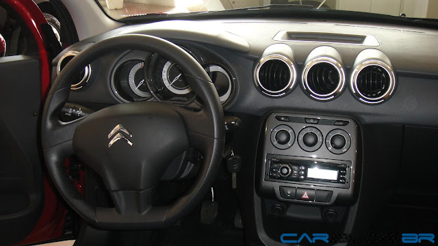Novo Citroen C3 2013 Tendance - interior - painel