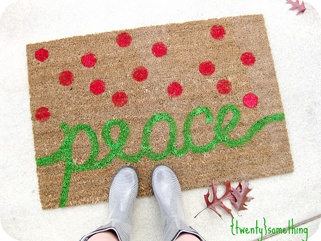 Superbe She Also Shared A Link To This Fun Painted Holiday Doormat From {Twenty}  Something.