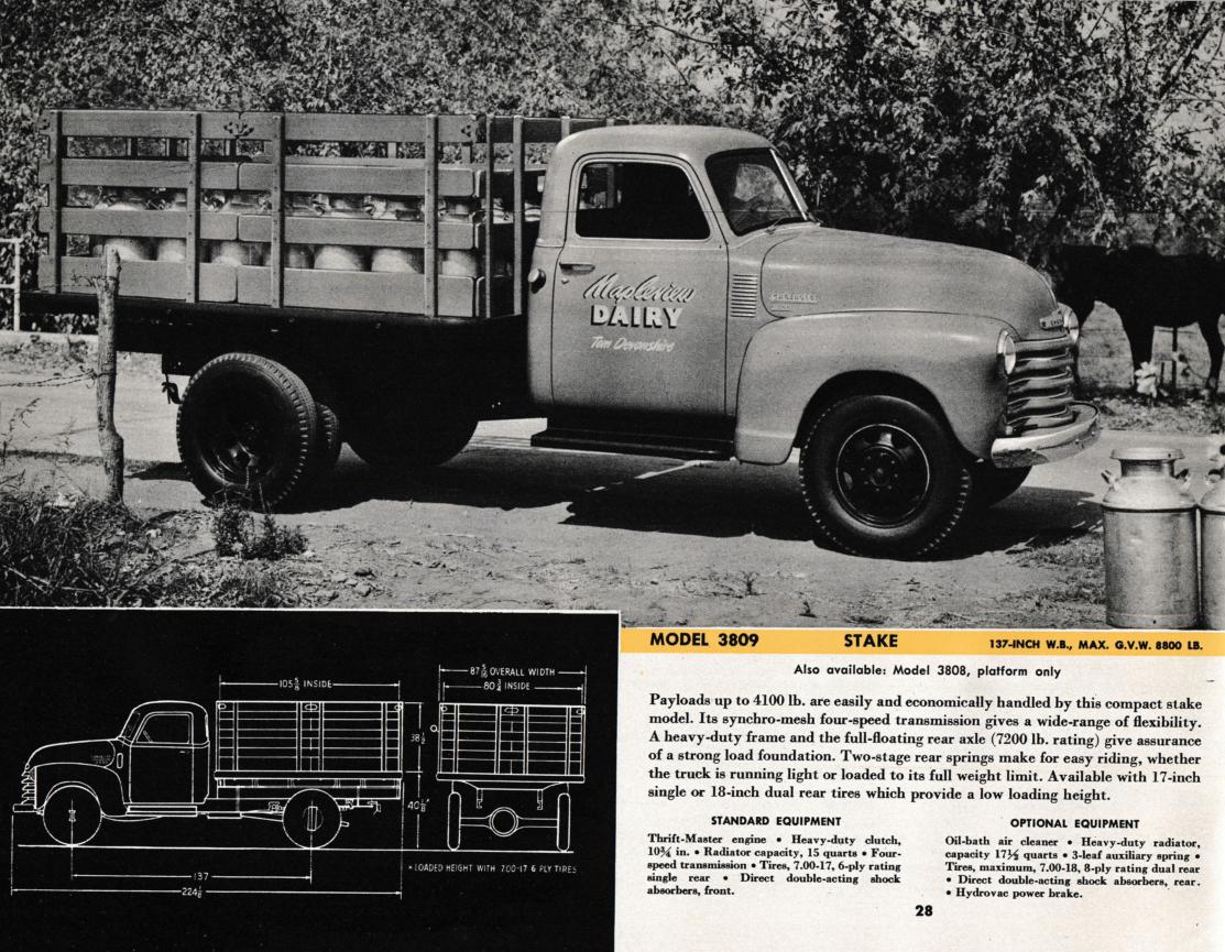 1950 chevrolet trucks brochure medium duty