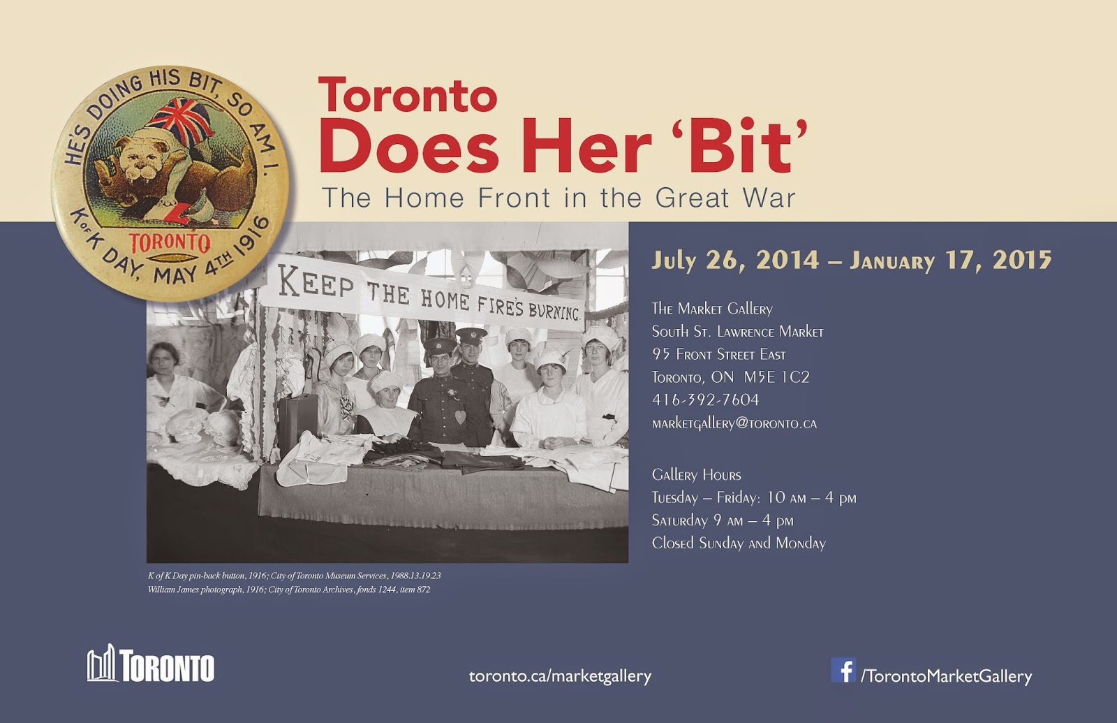Toronto Does Her 'Bit' Promotional Poster