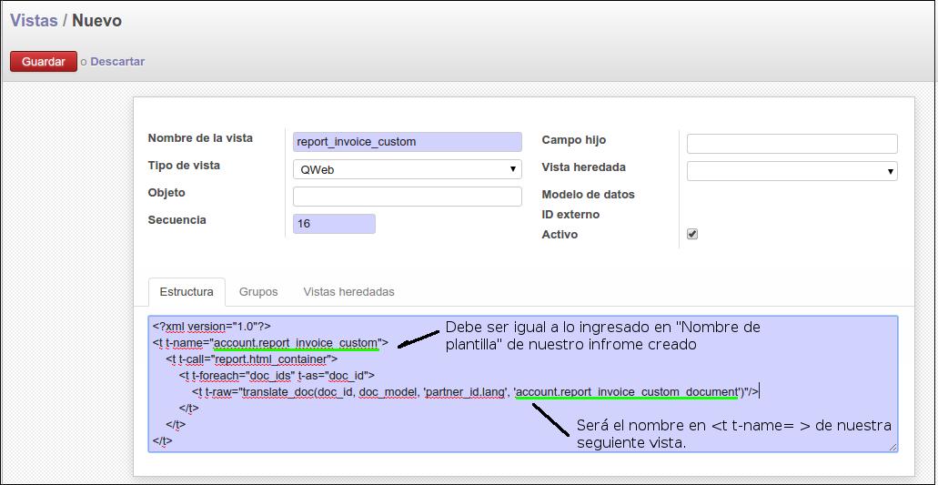 Creando un reporte de factura alternativa - Odoo | Jhonny Martínez E.