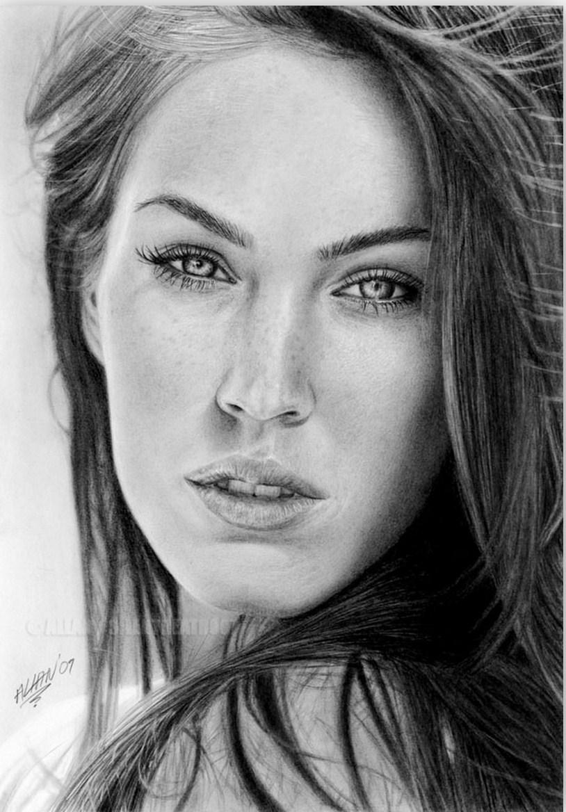 dibujos de rostros de mujeres hermosas a l piz Car Pictures