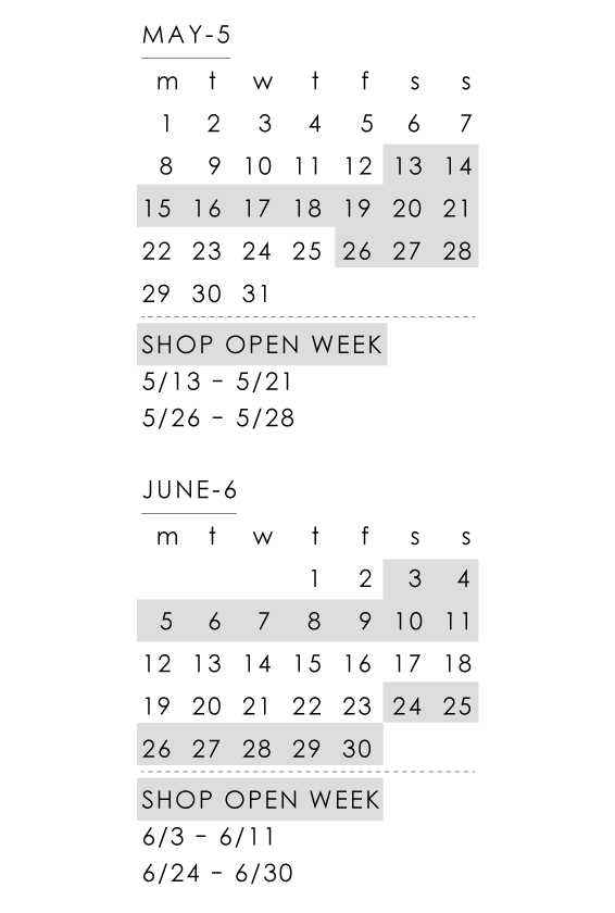 OPEN WEEK CALENDAR