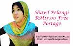 SHAWL PELANGI RM15.00 FREE POSTAGE