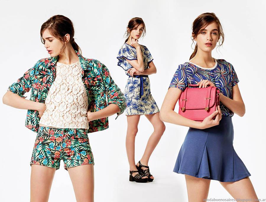Moda 2015. Estancias Chiripá primavera verano 2015 vestidos, faldas, monos y blusas.