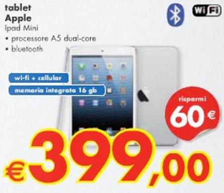 Panorama sconta di 60 euro il tablet Apple iPad Mini per quasi tutto agosto 2013
