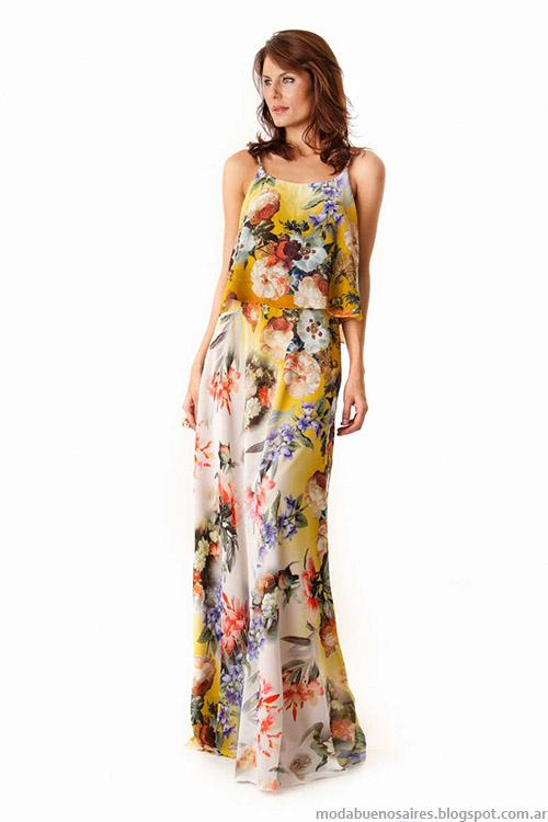 Moda verano 2015 Verónica Far vestidos largos de fiesta 2015.