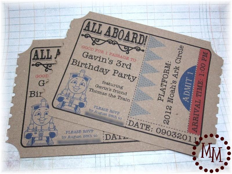 Train ticket birthday invitations the scrap shoppe filmwisefo Choice Image