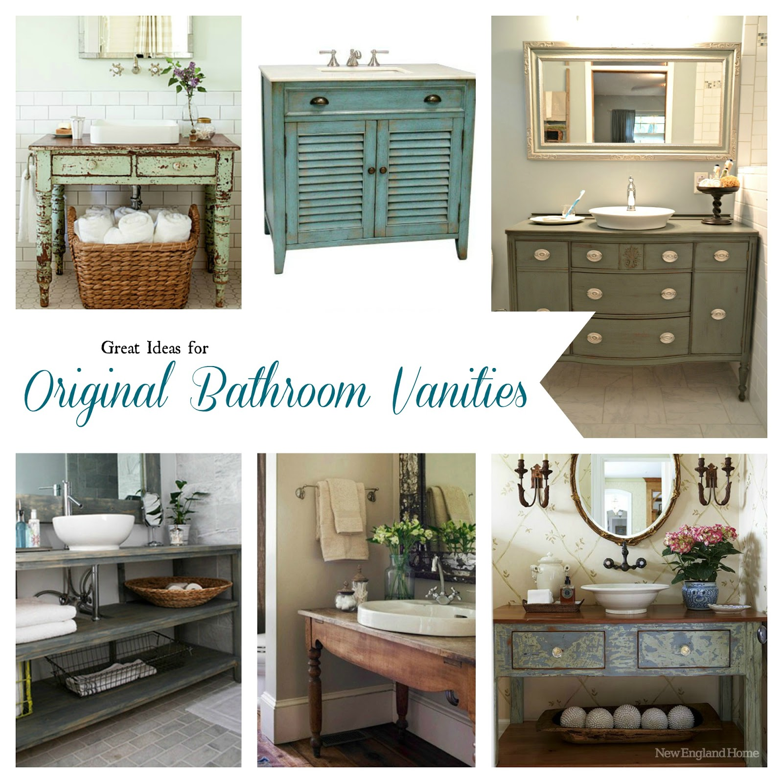 Bathroom inspiration open shelf vanity postcards from for Vanity bathroom ideas