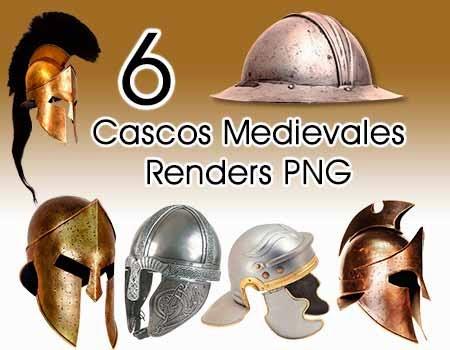 Cascos, Medievales, Renders, PNG