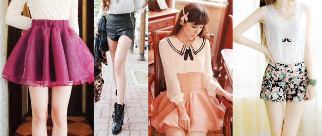 Some of my favorite bottoms from Wholesalebuying include this organza flared tutu skirt, leather shorts, buttoned skirt, and floral shorts.