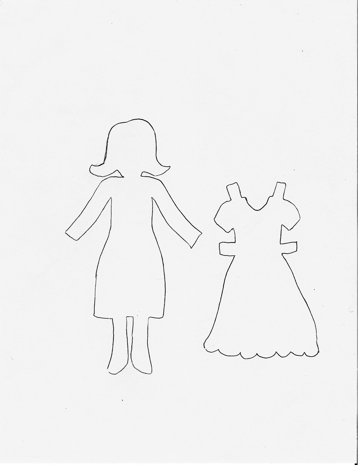 Having fun at home word family paper dolls word family paper dolls pronofoot35fo Image collections