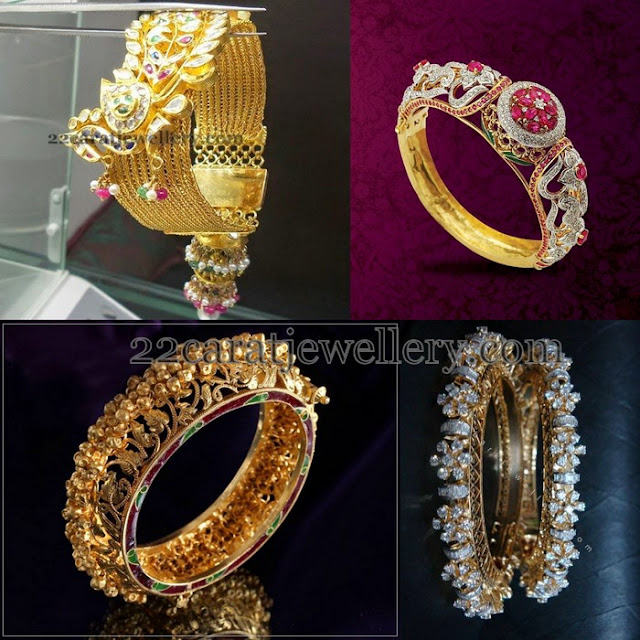 Bangles in Antique and Diamonds